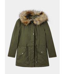 chaqueta acolchada con peluche