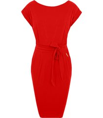 femme fatale jurk rood