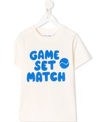 mini rodini game set match print t-shirt - neutrals