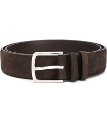 orciani pointed-tip suede belt - brown