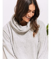 supersoft knit cowl neck top