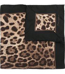 dolce & gabbana leopard print scarf - black