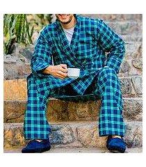men's cotton flannel pajama pant, 'high glen' (ireland)