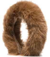 shrimps malete faux fur headband - brown