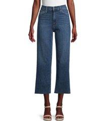 joe's jeans women's high-rise wide-leg cropped jeans - brossard - size 24 (0)