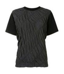 3.1 phillip lim camiseta parachute com recortes - preto
