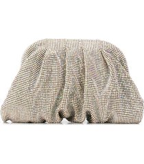 benedetta bruzziches hinged crystal clutch - gold