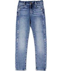 liu-jo slim model denim jeans with rhinestone applications