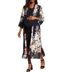 women's angel maternity print maternity tank dress & duster cardigan