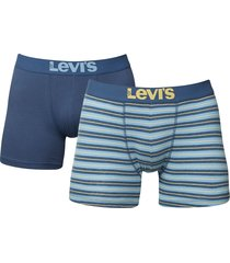 levis boxershort 200sf 2-pak stripe blue