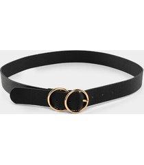 belicia double circle belt - black