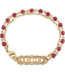 2028 amor beaded chain bracelet