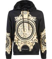 versace logo printed hoodie