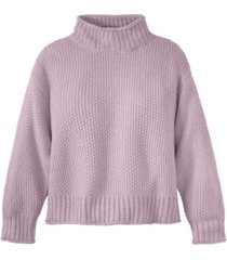 adyson parker women's seed stitch roll neck sweater