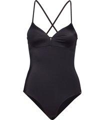 l. swimsuit baddräkt badkläder svart skiny