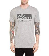 camiseta chess clothing cinza mescla - masculino