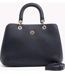 tommy hilfiger women's everyday satchel tommy navy -