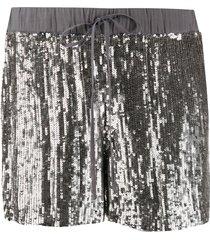 p.a.r.o.s.h. sequinned straight-leg shorts - silver