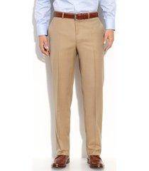 men's canali flat front wool trousers, size 34 us/ 50 eu x unhemmed - beige