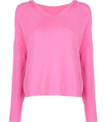 apparis aubrey fine knit hoodie - pink