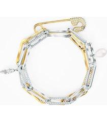 braccialetto so cool chain, bianco, mix di placcature
