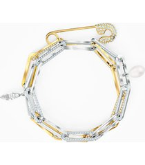 braccialetto so cool chain, bianco, mix di placcature