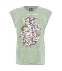 camiseta estampada - verde