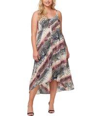 jessica simpson plus trendy fria printed smocked-back dress