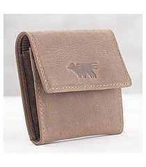 men's leather coin wallet, 'esquire in light brown' (peru)