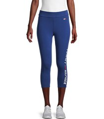 logo capri active leggings