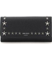jimmy choo nino continental wallet star studs