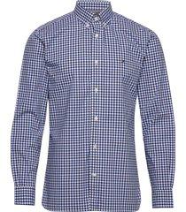 flex multi gingham shirt overhemd casual blauw tommy hilfiger