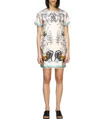 roberto cavalli dress roberto cavalli silk dress with hibryd animals print