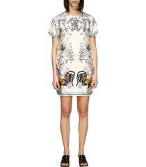 roberto cavalli dress roberto cavalli silk dress with hibryd animals print