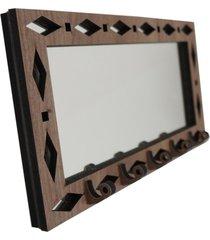 porta chaves crie casa marrom espelhado geométrico