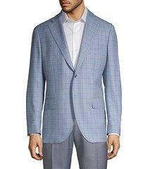 modern-fit mini check wool sport jacket
