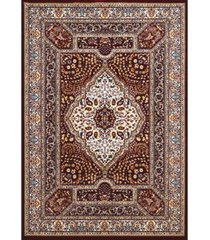 "asbury looms antiquities qum diamond 1900 01139 58 burgundy 5'3"" x 7'2"" area rug"