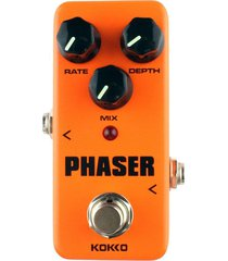 kokko fph2 mini guitarra eléctrica analog phaser monoblock pedal de efectos (naranja)