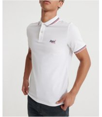 superdry classic micro lite tipped short sleeved men's polo