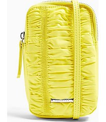 arrow festival pouch bag in yellow - yellow