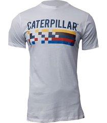 camiseta hombre retro race tee blanco cat