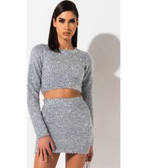 akira need more tinsel long sleeve top