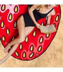 sciarpa casuale dello scialle della protezione solare di viaggio dell'asciugamano della spiaggia della fragola di frutta del fumetto di estate delle donne