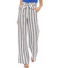 pantalón wados casual blanco/ azul - calce holgado