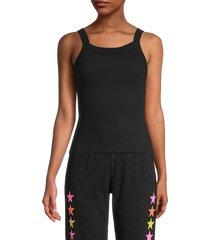 hard tail women's sport cotton tank top - black