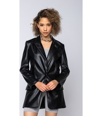 akira azalea wang faux luxe leather blazer
