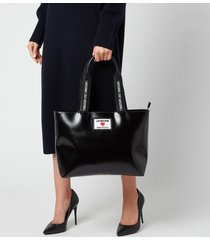 love moschino women's heart logo tote bag - black