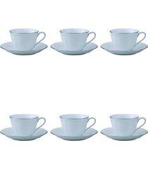 jogo de xícara para chá noritake princess bouquet 6 peças