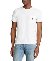 polera custom slim fit t-shirt blanca polo ralph lauren