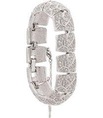 d'orlan vintage 1980's swarovski embellished articulated bracelet -